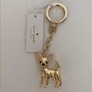Kate Spade Chihuahua Dog Key Fob Keyring